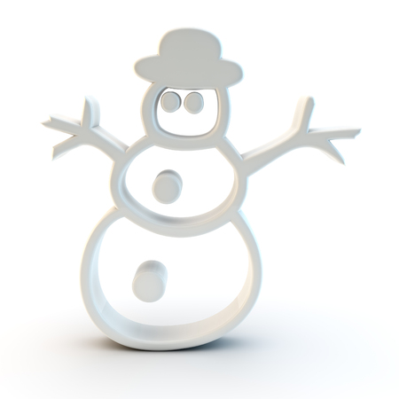 tridimensional: 3d snowman symbol Stock Photo