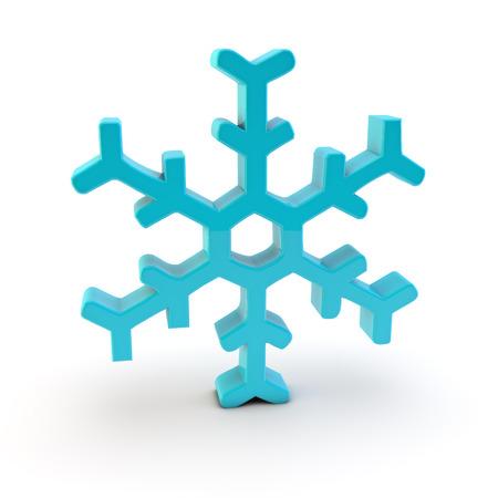 snow crystal: 3d snow crystal symbol