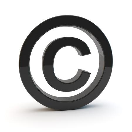 copyright: 3d copyright symbol Stock Photo