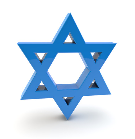 synagoge: 3d star of david symbol Stock Photo