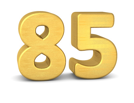 tridimensional: 3d number 85 gold