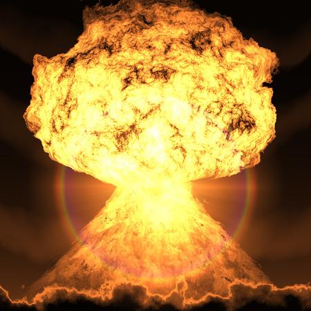 bombe atomique: bombe nucléaire explosion Banque d'images