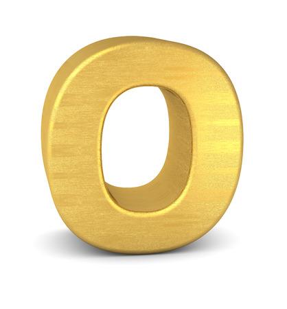 3d letter O gold