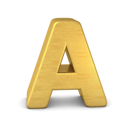 3d letter A gold Zdjęcie Seryjne