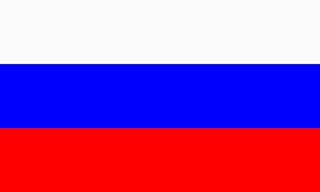 russian flag: flat russian flag