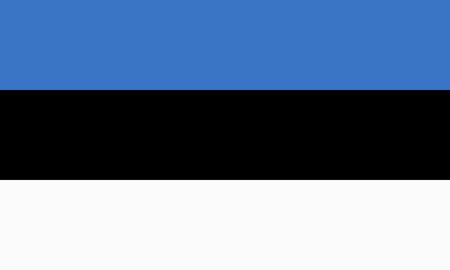 estonian: flat estonian flag