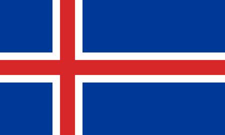 the icelandic flag: flat icelandic flag