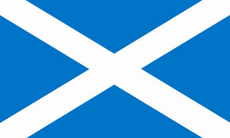 scottish flag: piatta bandiera scozzese