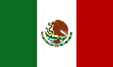 flat mexican flag