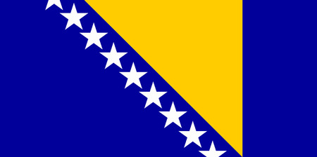 flat bosnia and hercegovina flag