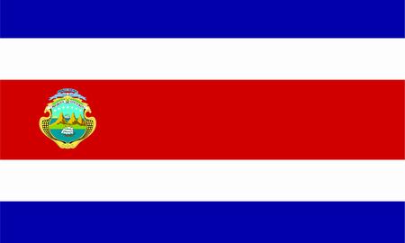 costa rican flag: flat costa rican flag Stock Photo