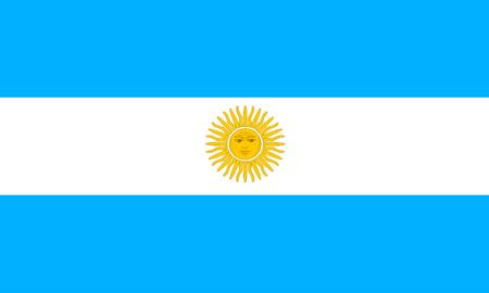 argentinian flag: flat argentinian flag