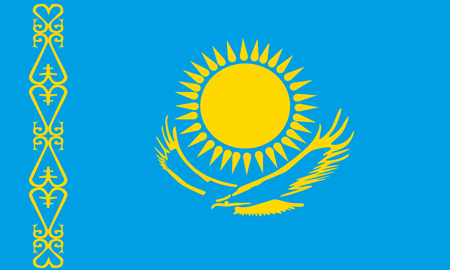 flat kazakhstan flag Stock Photo