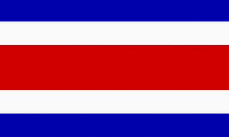 costa rican: flat costa rican flag Stock Photo