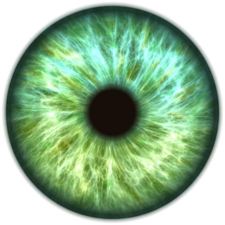 blue green iris Stock Photo