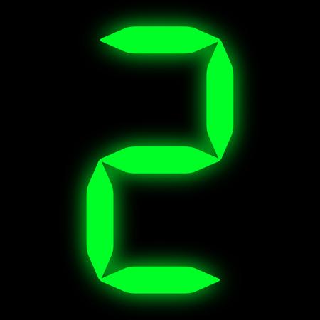 green led digit 2