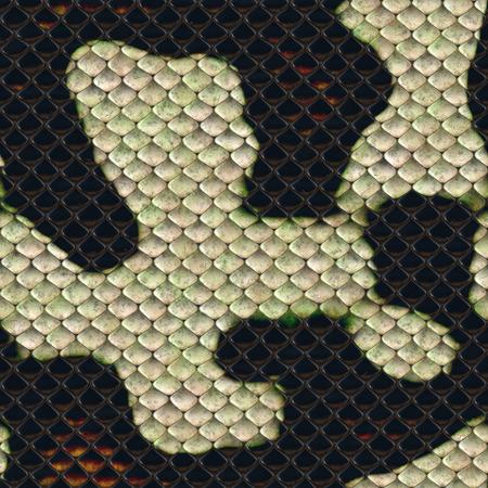 snake skin seamless texture 3D illustration