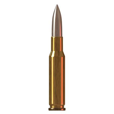 brass colored gun bullet