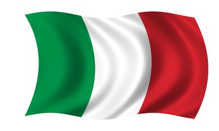 waving italian flag Foto de archivo