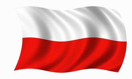waving poland flag