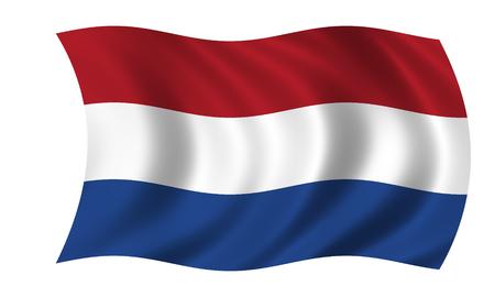 agitant le drapeau néerlandais