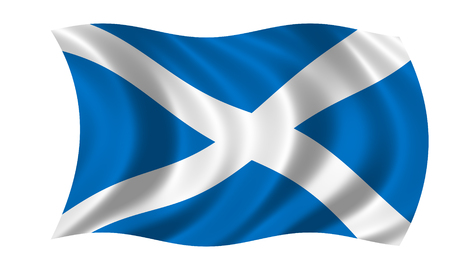 waving scottish flag