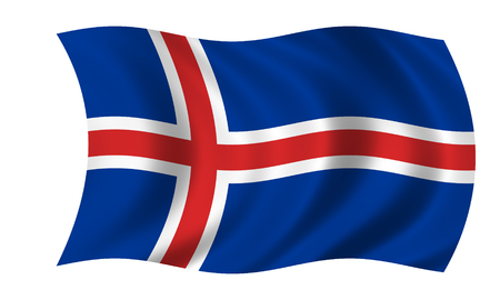 Waving Icelandic flag