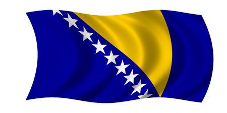 waving bosnia and hercegovina flag 스톡 콘텐츠