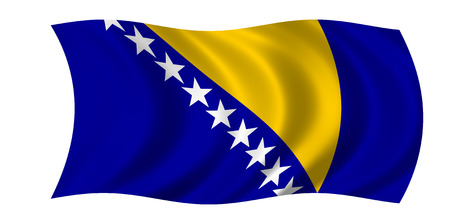 waving bosnia and hercegovina flag Stock Photo