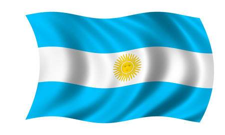 waving argentinian flag