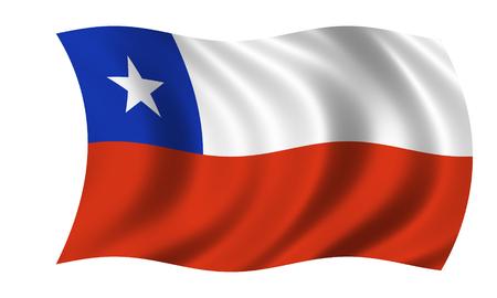waving chilean flag Banque d'images