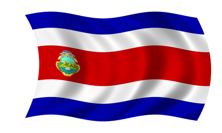 waving costa rican flag 版權商用圖片