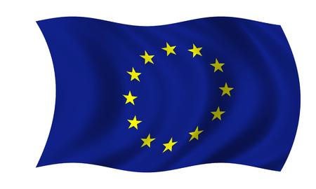 waving european union flag Stock Photo
