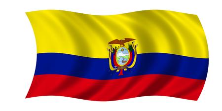 waving ecuadorian flag