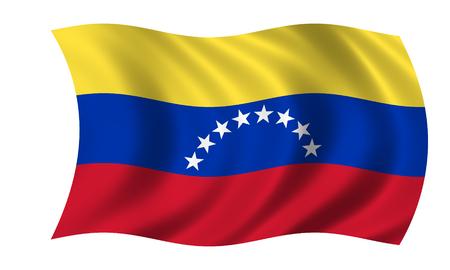 waving venezuelan flag in wind