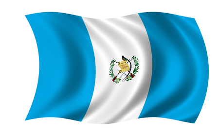 waving guatemala flag in wind