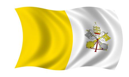 waving vatican flag in wind Zdjęcie Seryjne