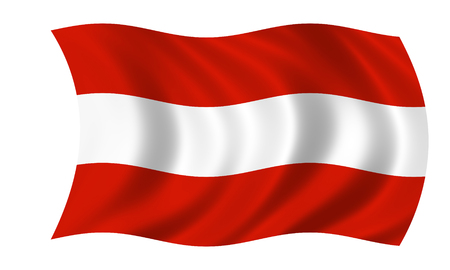 waving austrian flag in wind Standard-Bild - 117961561