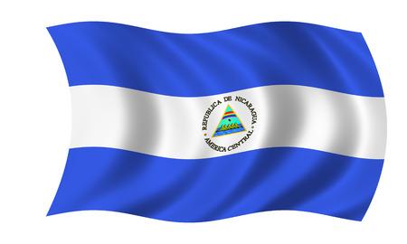waving nicaraguan flag in wind