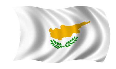 cyprian flag in wind