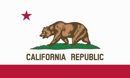 flat californian  state flag - usa Zdjęcie Seryjne
