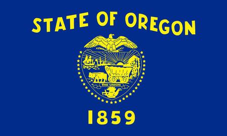 flat oregon state flag - usa Zdjęcie Seryjne