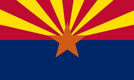 flat arizona state flag - usa