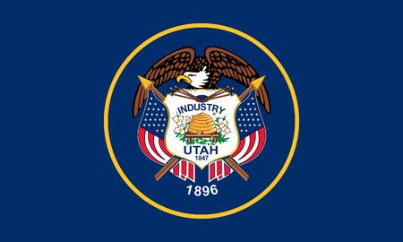 flat utah state flag - usa Zdjęcie Seryjne