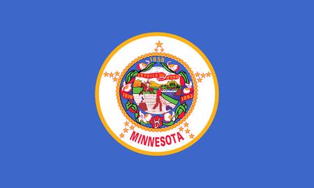 flat minnesota state flag - usa