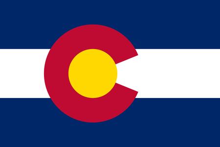flat colorado state flag - usa Zdjęcie Seryjne