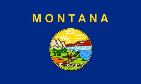 flat montana state flag - usa