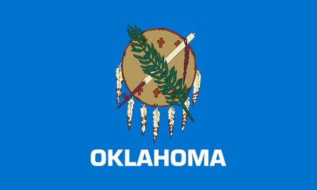 flat oklahoma state flag - usa Zdjęcie Seryjne