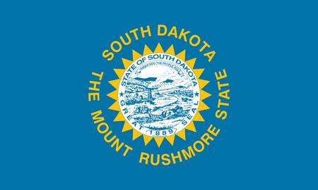 flat south dakota state flag - usa Zdjęcie Seryjne