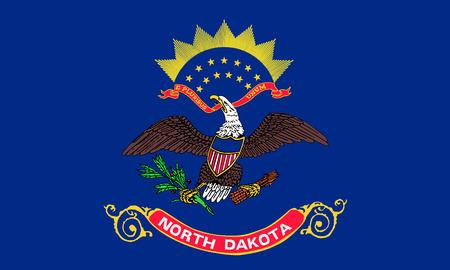 flat north dakota state flag - usa
